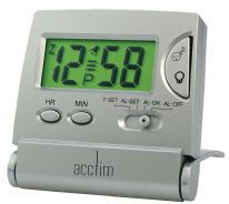 Acctim Mini LCD Flip Clock - Silver